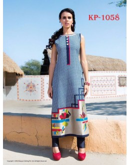 Office Wear Readymade Multi-Colour Kurti - JumariKP1058