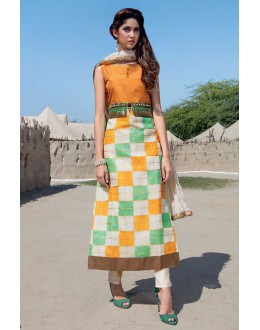 Office Wear Readymade Multi-Colour Kurti - Jumari19