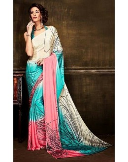 Festival Wear Multi-Colour Crepe Silk Saree  - Kaalina13002