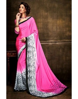 Party Wear Pink Crepe Silk Saree  - Kaalina13009