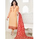 Party Wear Orange & Red Georgette Salwar Suit - Kashish4021
