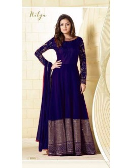 Festival Wear Blue Georgette Silk Anarkali Suit  - LT99005Blue