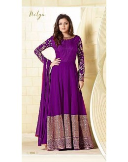 Festival Wear Purple Georgette Silk Anarkali Suit  - LT99005Purple