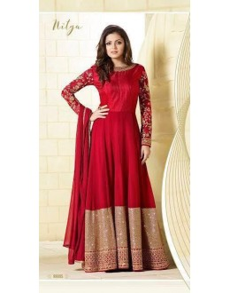 Wedding Wear Red Georgette Silk Anarkali Suit  - LT99005Red