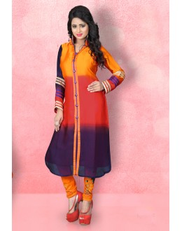 Readymade Satin Silk Multicolour Kurti - LaskaraK215