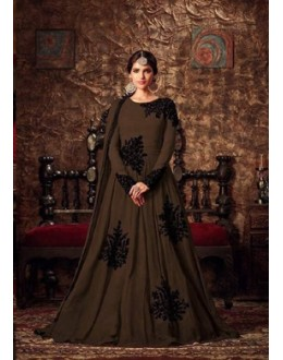 Festival Wear Coffee Georgette Anarkali Suit - Maisha4405-A