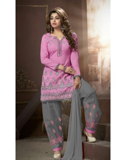 Festival Wear Pink Cotton Patiyala Suit  - ManjariLFA151-02