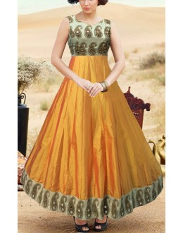 Traditional Multicolour Silk Gown - Prestige63FA367-008