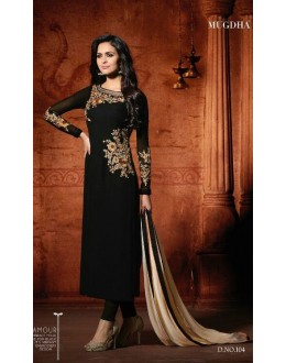 Festival Wear Black Georgette Salwar Suit - Mugdha104Black