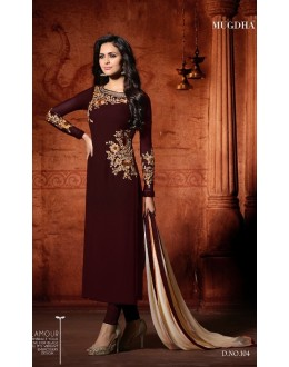 Traditional Wear Maroon Georgette Salwar Suit - Mugdha104Maroon