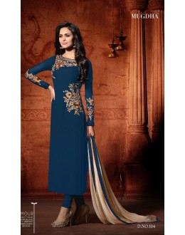Party Wear Royal Blue Georgette Salwar Suit - Mugdha104RoyalBlue