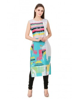 Office Wear Readymade American Crepe Kurti - Omi39
