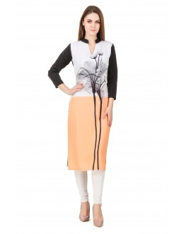 Office Wear Readymade American Crepe Kurti - Omi42