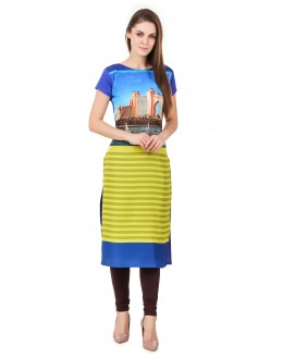 Office Wear Readymade American Crepe Kurti - Omi46