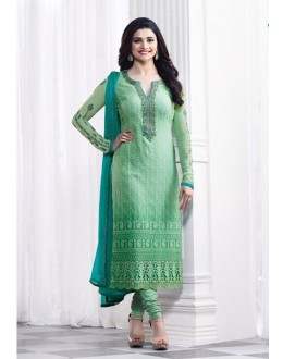 Prachi Desai In Green Georgette Salwar Suit  - Prachi325282