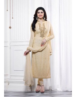 Prachi Desai In Cream Georgette Salwar Suit  - Prachi325283
