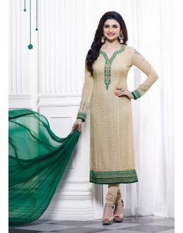 Prachi Desai In Cream Georgette Salwar Suit  - Prachi325287