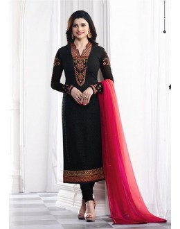 Prachi Desai In Black Georgette Salwar Suit  - Prachi325288