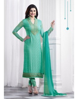 Prachi Desai In Green Georgette Salwar Suit  - Prachi325289