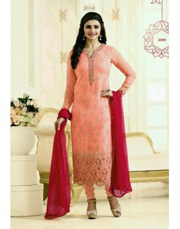 Prachi Desai In Orange Georgette Salwar Suit  - Prachi315191