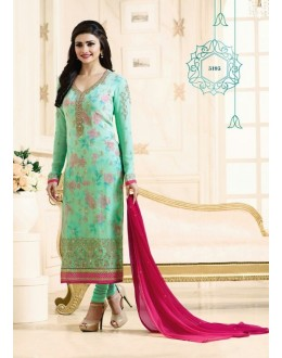 Prachi Desai In Green Georgette Salwar Suit  - Prachi315195