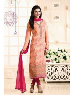 Prachi Desai In Orange Georgette Salwar Suit  - Prachi315196