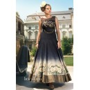 Traditional Black Ready Made Gown - PRESTIGE1025