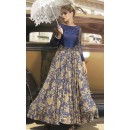 Traditional Blue Ready Made Gown - PRESTIGE1027