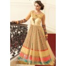 Traditional Cream Ready Made Gown - PRESTIGE1029