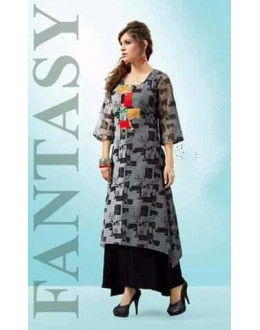 Office Wear Readymade Multi-Colour Georgette Kurti - Pretty2001