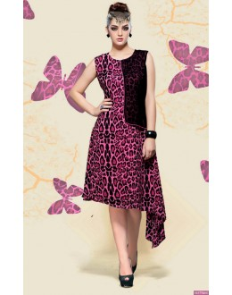 Ethnic Wear Readymade Pink Georgette Kurti - Pretty2004