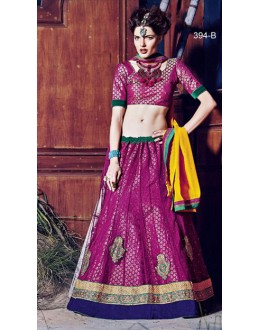 Festival Wear Pink Square Net Lehenga Choli - QUEEN4394-B