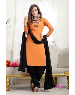 Office Wear Readymade Orange Georgette Patiyala Suit  - Rasiya904