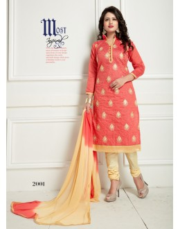 Festival Wear Orange Chanderi Salwar Suit  - Ritima2001