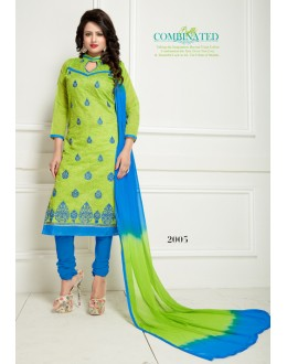 Festival Wear Green Chanderi Salwar Suit  - Ritima2005