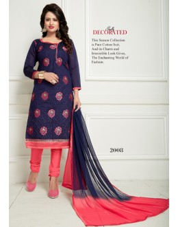 Festival Wear Blue Chanderi Salwar Suit  - Ritima2008
