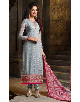 Party Wear Grey Georgette Salwar Suit  - Sahiba4102