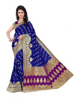 Party Wear Banarasi Silk Saree  - Sanjivani107B BluePurple