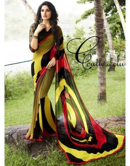 Casual Wear Multicolour Georgette Saree  - Sanskar16101