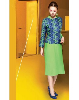 Ethnic Wear Readymade Green Kurti - Shrushti20024
