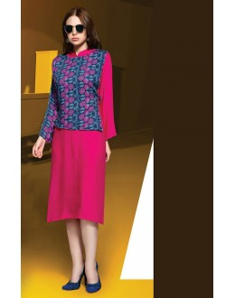 Party Wear Readymade Pink Kurti - Shrushti20025