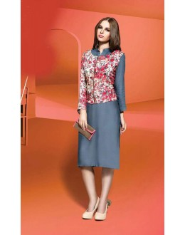 Festival Wear Readymade Grey Kurti - Shrushti20035