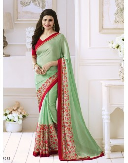 Prachi Desai In Green Georgette Saree  - Starwalk2117612