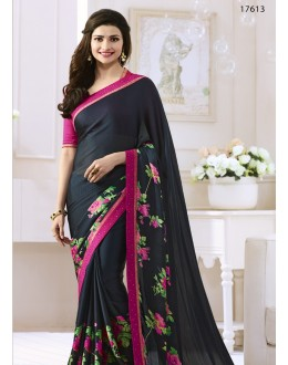 Prachi Desai In Black Georgette Saree  - Starwalk2117613