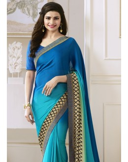 Prachi Desai In Multi-Colour Georgette Saree  - Starwalk2117618