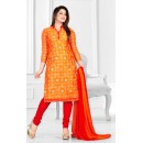 Designer Orange & Red Salwar Suit - Sultan1001