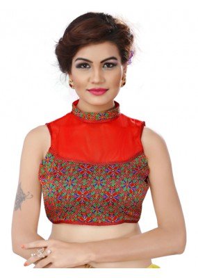 Designer Readymade Red  Blouse - TAMANNA07