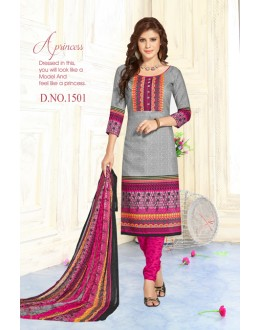 Festival Wear Grey Pure Cotton Salwar Suit - Trishti1501