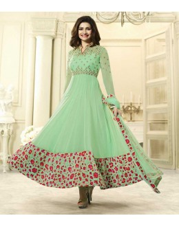 Prachi Desai In Light Green Anarkali Suit  - Vinay284743