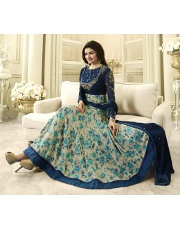 Prachi Desai In Blue & Beige Anarkali Suit  - Vinay284744